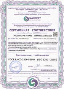 Сертификация ХАССП (HACCP)